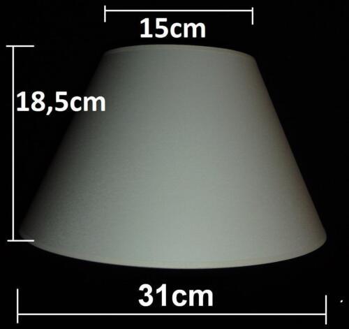 A554 31 cm Lampenschirm Stoff Stoffschirm Ersatz E27 Ø ca