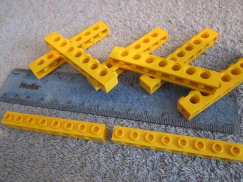 7 Hole Brick 8 pin Lego Technic 8 x YELLOW Beams