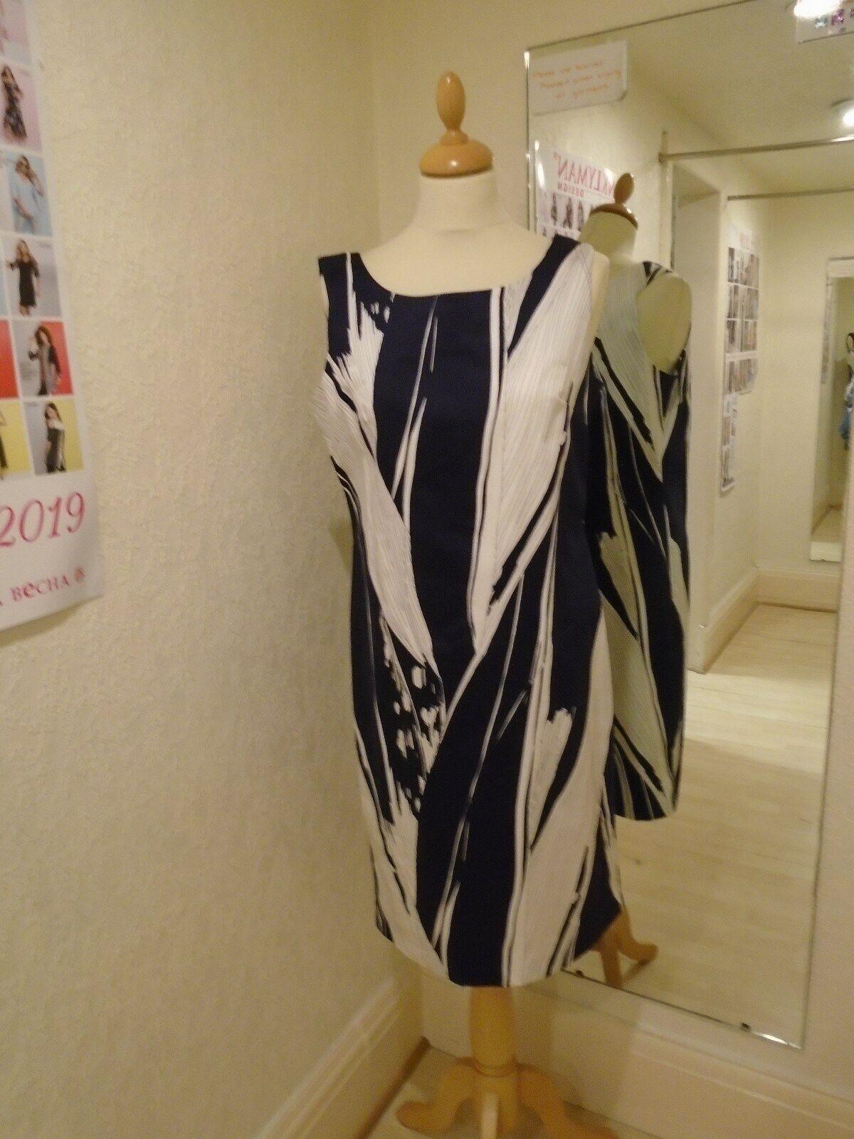 Pomodgold Navy CONTOUR Shift dress size 10 11803
