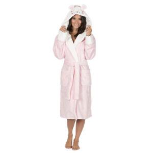 9d3b8ee3ff Ladies Women s Novelty Dressing Gown Animal Fleece Robe Polka Dot ...