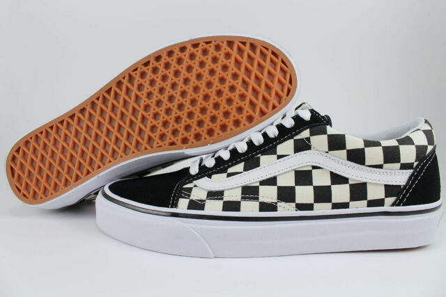 766d948a6afb8 VANS OLD SKOOL PRIMARY CHECKERBOARD BLACK/OFF WHITE CHECK SKATE SK8 US MEN  SIZES