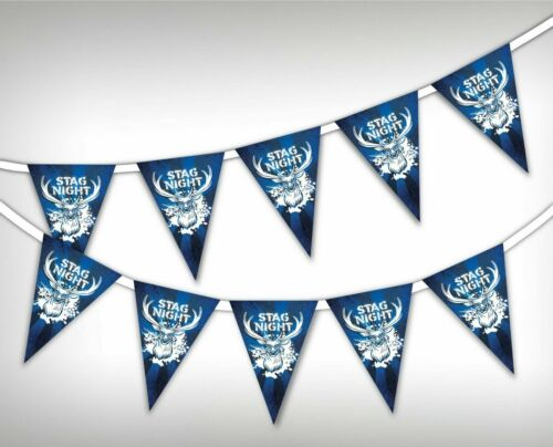 Stag Party 15 flags bunting Boys night out celebration