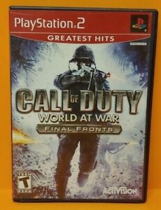 Call-of-Duty-World-at-War-PS2-Playstation-2-Game-1-Owner-Mint-Disc