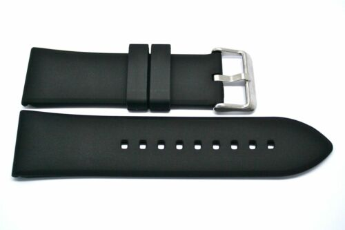 22MM BLACK RUBBER//SILICONE COMPOSITE STRAP BAND