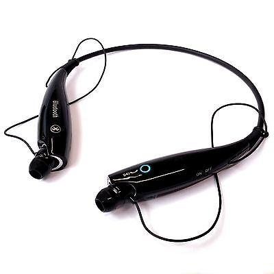 Black Wireless Bluetooth Stereo Headphones Earphones Neck Band