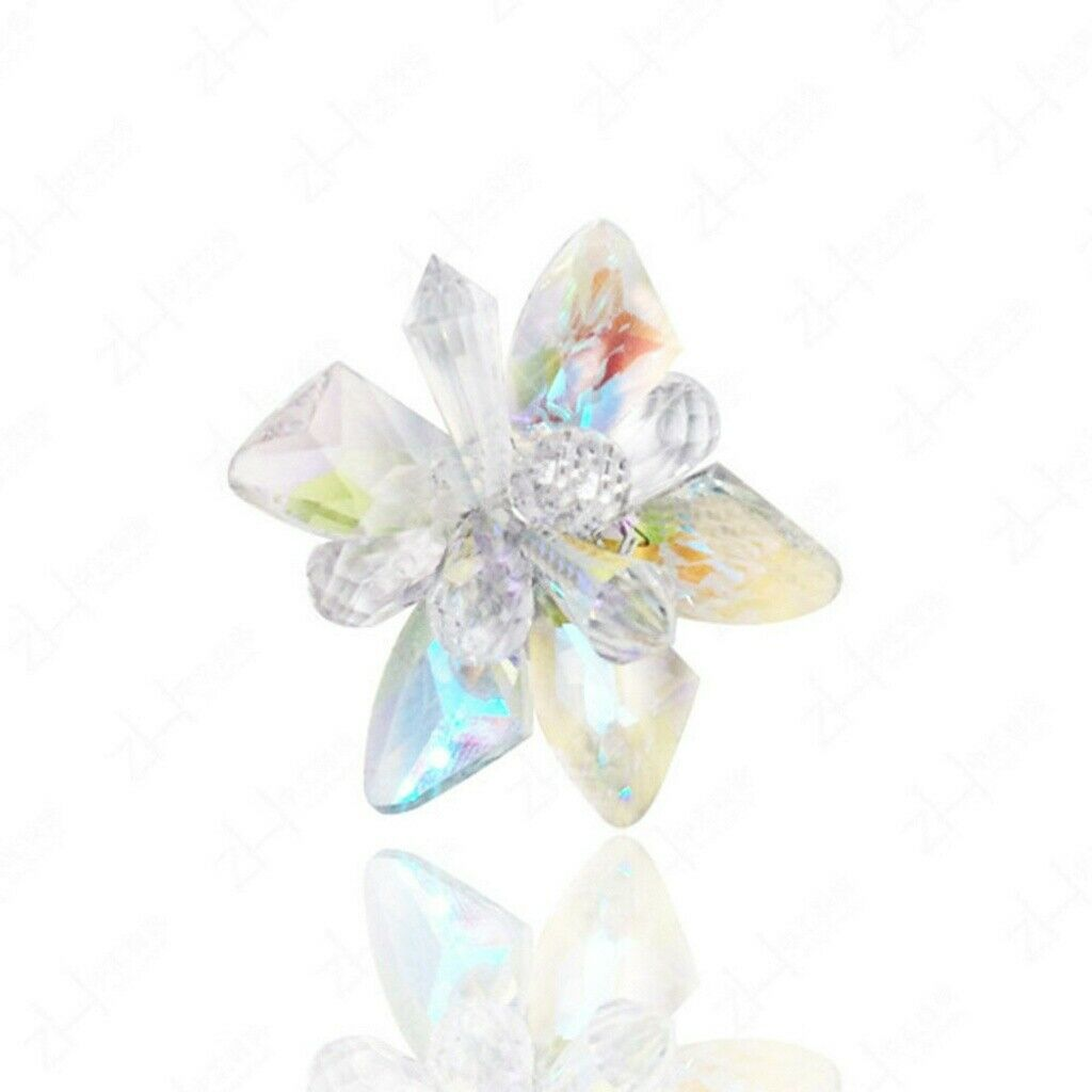 Crystal Elegant Princess Glass Flower Shoe Clips Gift for Lover Wife Friends