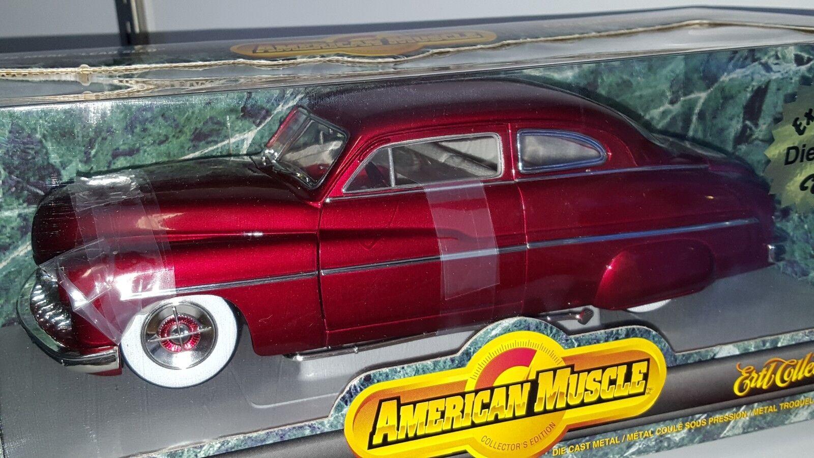 1 18 Ertl American Muscle 1949 Mercury  Trineo  de plomo rosso Od