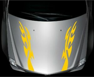 Universal Car Racing Sport Flames Fire Hood Decals Vinyl Graphics Stickers ghhfd