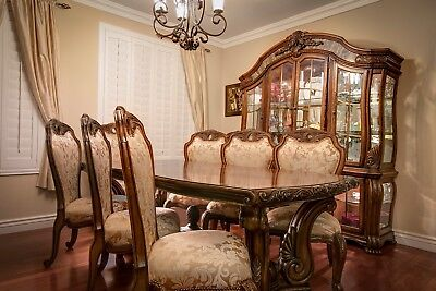 Aico By Michael Amini Oppulente Collection Luxury 9 Piece Dining Room Set Ebay