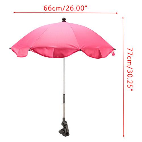 Baby Stroller Pushchair Umbrella Sun Shade Parasol Rain Canopy Cover 3 Colors