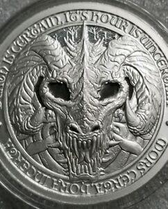 Destiny Knight The Raven 2 oz Silver Round Capsuled Antiqued Finish Coin W//COA