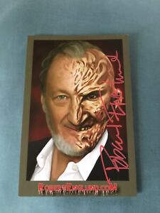Robert-Englund-Autographed-In-Person-4x6-Postcard-w-COA-EXTREMELY-RARE-Red-Ink