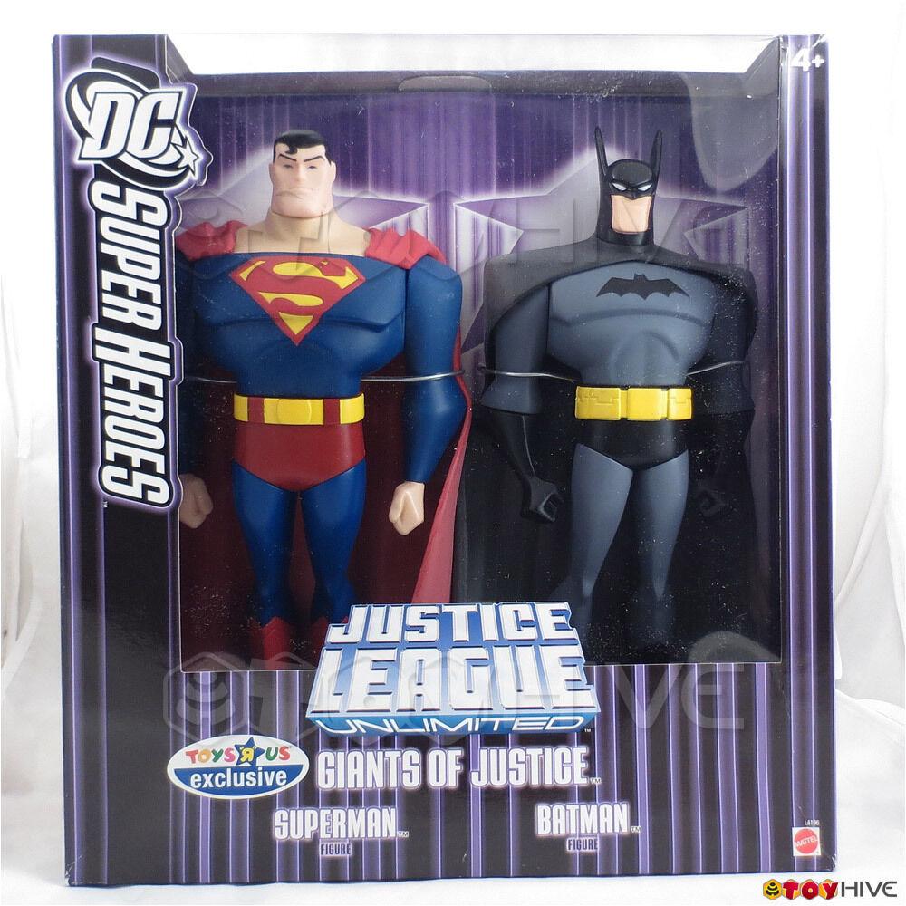 Justice League Giants Superman Batman 10 inch action figure exclusive lila box