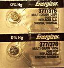 ENERGIZER 377/376 SR626SW SR626W (2 Piece) BATTERIES NEW SEALED Authorize Seller