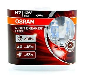 osram h7 12v 55w night breaker nightbreaker laser 130 2st 64210nbl top ebay. Black Bedroom Furniture Sets. Home Design Ideas