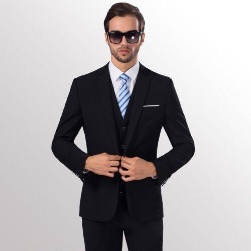 Mens Business Leisure A Suit Two-piece Suit Grooms Best Wedding Coat Jacket NEW