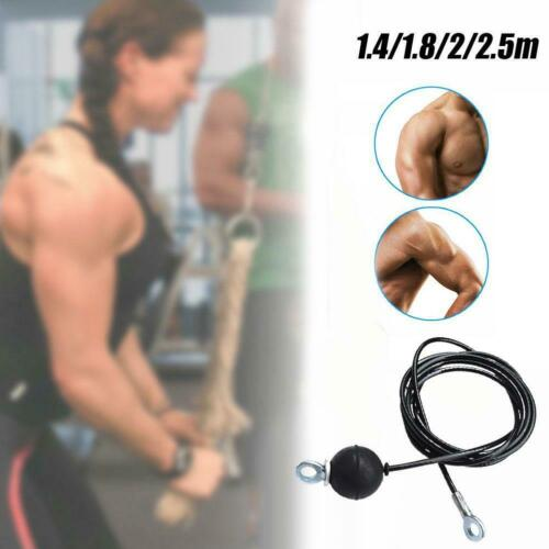 1Pc Adjustable Home Fitness Pulley Cable Length Heavy Rope Duty Steel Wire 2021H