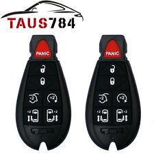 2 New 7btn Key Fob Keyless Entry Remote Alarm Key Transmitter Fit Chrysler Dodge