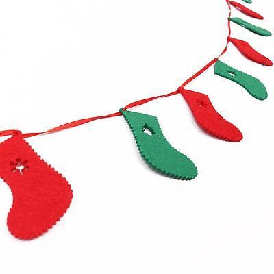 Merry Christmas Banner Felt Christmas Socks Banner Hanging Xmas Decoration