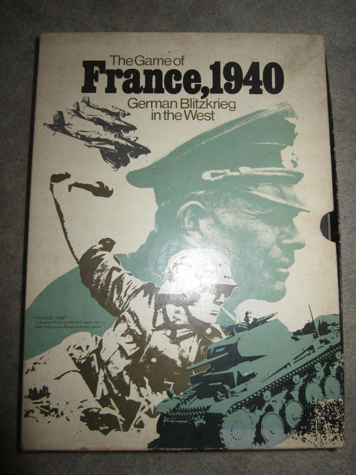 Vintage Juego, Francia, 1940, Alemán Blitzkrieg en el oeste, hecha por Avalon Hill