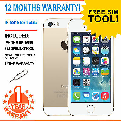 Apple iPhone 5s 16GB  Factory Unlocked - Champgne Gold - Faulty Touch ID