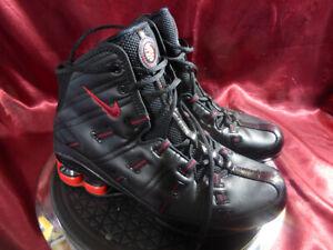 NIKE-SHOX-NU-Mid-RARE-OG-Black-amp-Red-Running-Trainer-Boot-Size-7-5-UK-42eu