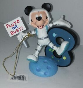 Tremendous Pluto Or Bust Mickey Mouse Birthday Cake Topper Disney Astronaut Funny Birthday Cards Online Elaedamsfinfo