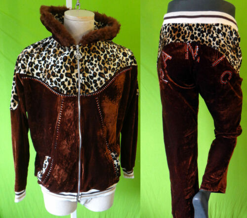 Stripper Fur Leopard Panic Pant Set Bling Faux Ghetto The Disco Outfit Velvet At fqwapfPC