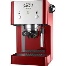 GAGGIA GRAN DELUXE | Macchina per il caffè espresso manuale 15 Bar, Rosso e Argento