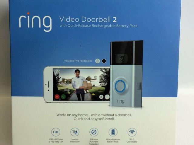 Ring Video Doorbell 2 Version 1080 HD WiFi Factory   eBay