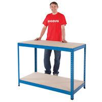 Garage Workbench Steel Bench 300kg Heavy Duty Work Station Storage Shelving