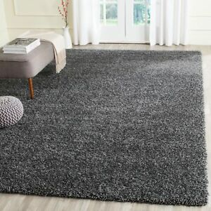 Image Is Loading Large Dark Grey Gy Rug 5cm Thick Pile