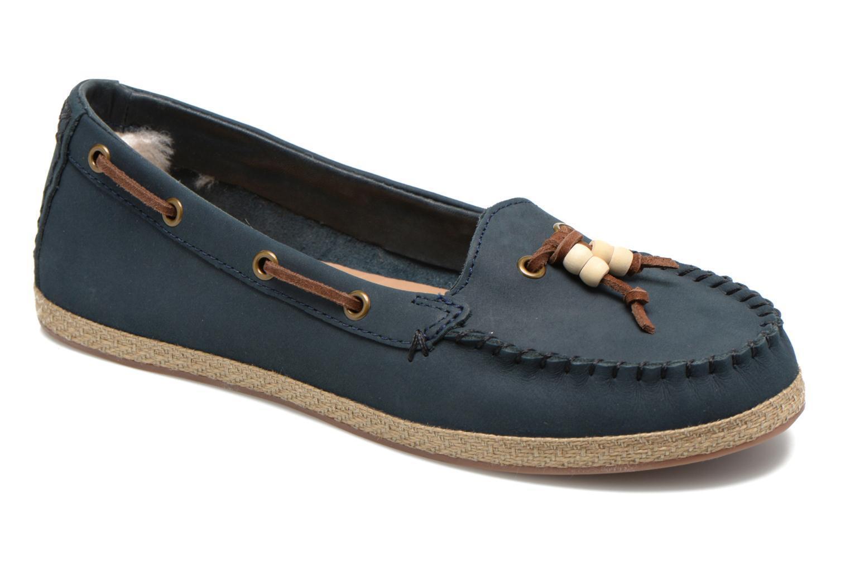 UGG Ladies Suzette Leather Shoes Navy Size UK 4 EU 37