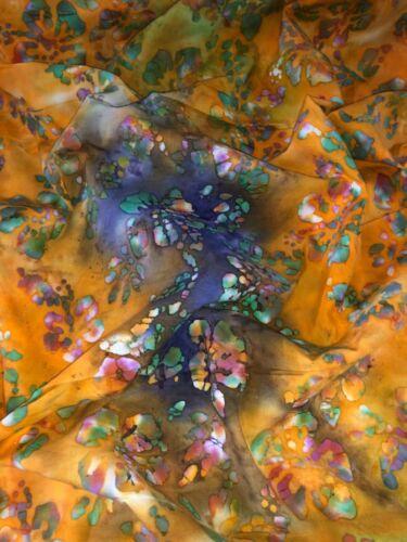 """1 Meter Purple//Orange Tye /& Dye Print100/% Pure Cotton Batik Fabric 45""""Wide"""