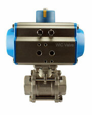 34 Pneumatic Air Actuated Stainless Ball Valve Single Acting Spring Return