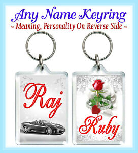 Details about Name Keyring Any Name Meaning India Sikh Gujrati Hindu  Punjabi Personalised Gift