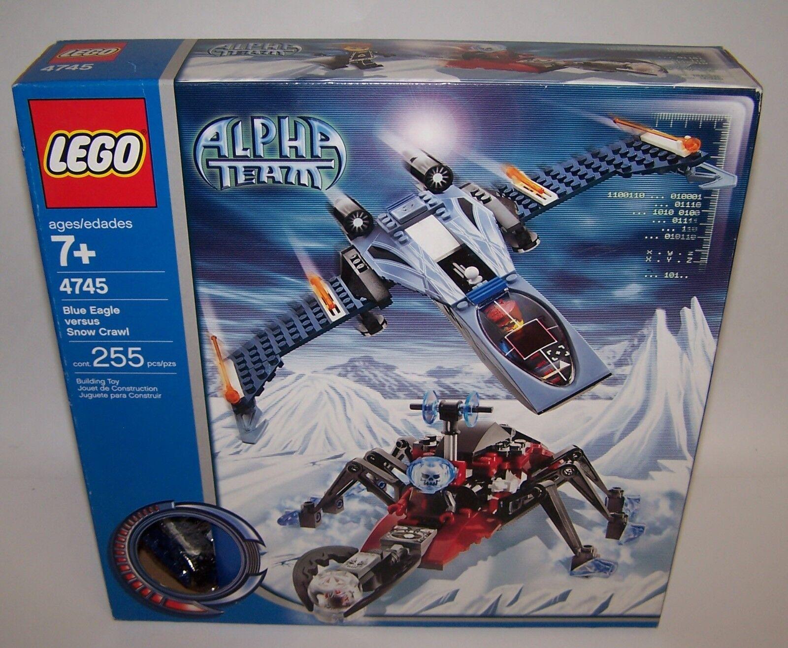 Lego 4745 Alpha Team bluee Eagle Vs Snow Crawler 225 pcs New Sealed