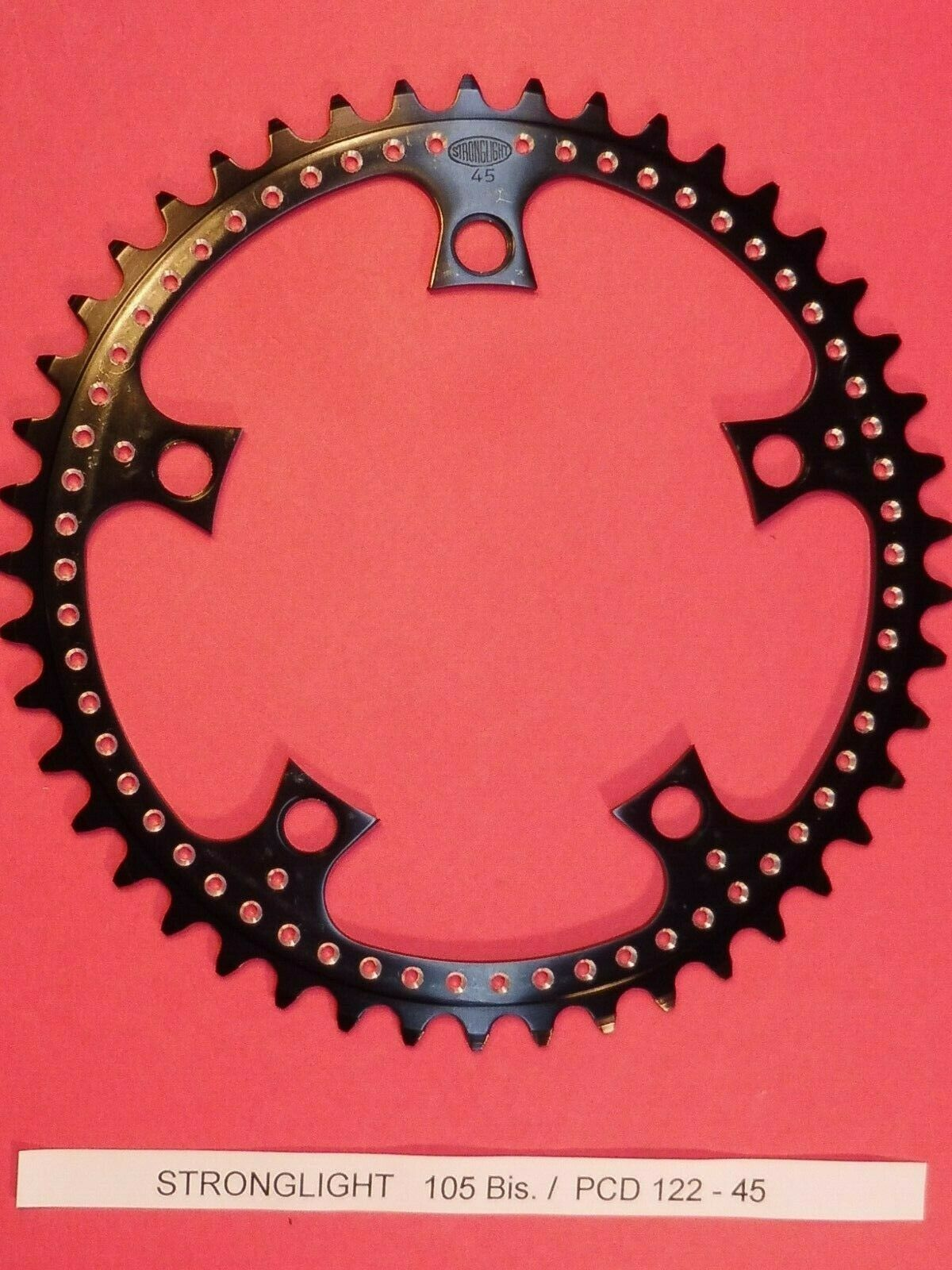 Stronglight mod. 105 Bis 122 PCD - 45  chainring   NOS L'eroica