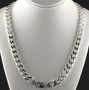 Heavy-11mm-Solid-925-Sterling-Silver-Cuban-Link-6-Sided-Curb-Chain-Men-24-034