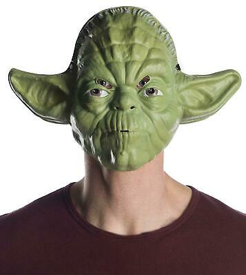 Star Wars Yoda Vacuform Halloween Costume Mask Green One Size New