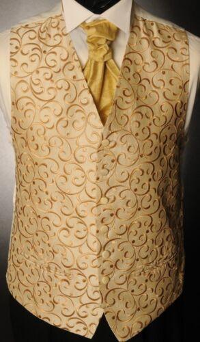 CW36 para hombre//niños oro Regal Remolino Chaleco//vestido//suit//fiesta//formal