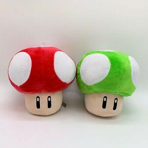 """Super Mario Bros Green 1-UP Mushroom Plush Soft Toy Doll Teddy 6.5/"""""""