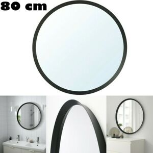 Ikea Langesund Home Decor Hanging Wall Bathroom Round Mirror 80 Cm Dark Grey Ebay