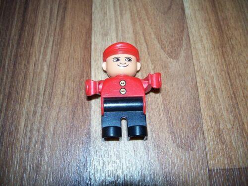 Eisenbahn,Lok,Zugbegleiter LEGO DUPLO Figur Schaffner rot-schwarz Lokführer