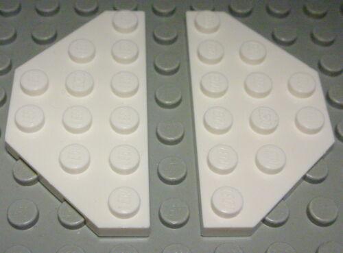 1222 Lego Platte schräg 3x6 Weiss 2 Stück