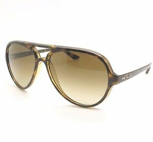 369b442f193f1a Ray Ban RB 4125 710 51 59mm Cats 5000 Havana Gradient New Authentic ...