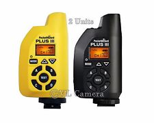 NEW!!!  2 - PocketWizard Plus III Transceiver Pocket Wizard  (Black + Yellow)