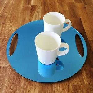 Round-Flat-Serving-Tray-Blue-Mirror-Acrylic-3mm-Thick-32cm-12-5-034-Diameter
