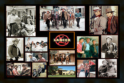 """/""""LANCER/"""" James Stacey-Wayne Maunder and cast 4/""""x6/"""" MAGNET PRINT"""