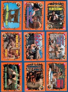 14 (11 Diff+3 Dups) The Flintstones Movie, Sticker Trading Cards W/ Puzzle Back